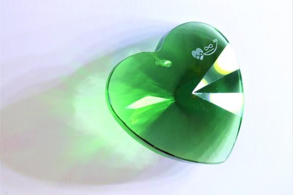 Srdce Smaragd zelené