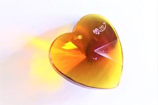 Srdce Topaz zlatavé