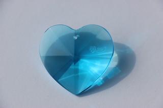 Srdce Aqua tyrkys